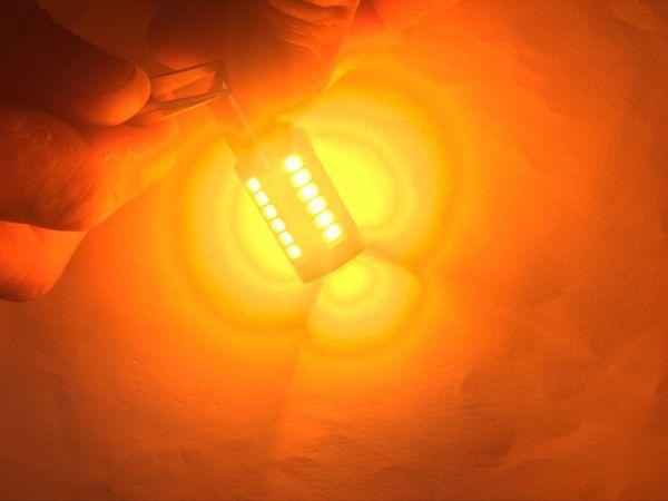 送料無料 12V T20 T20ピンチ部違い ピン角違い LED アンバー ウインカー ハイフラ抵抗 内蔵 66連LED搭載