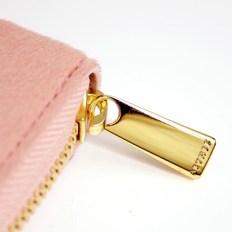 エーテル 最高級ヘアレザーのかぶせ長財布のファスナートップ