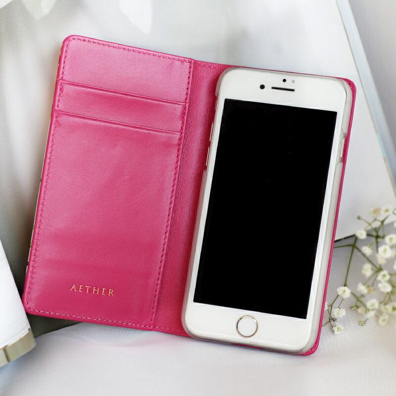 c1e953c1e5 本革手帳型iPhone8/7/6s/6ケース 世界にひとつの花柄|AETHER(エーテル)