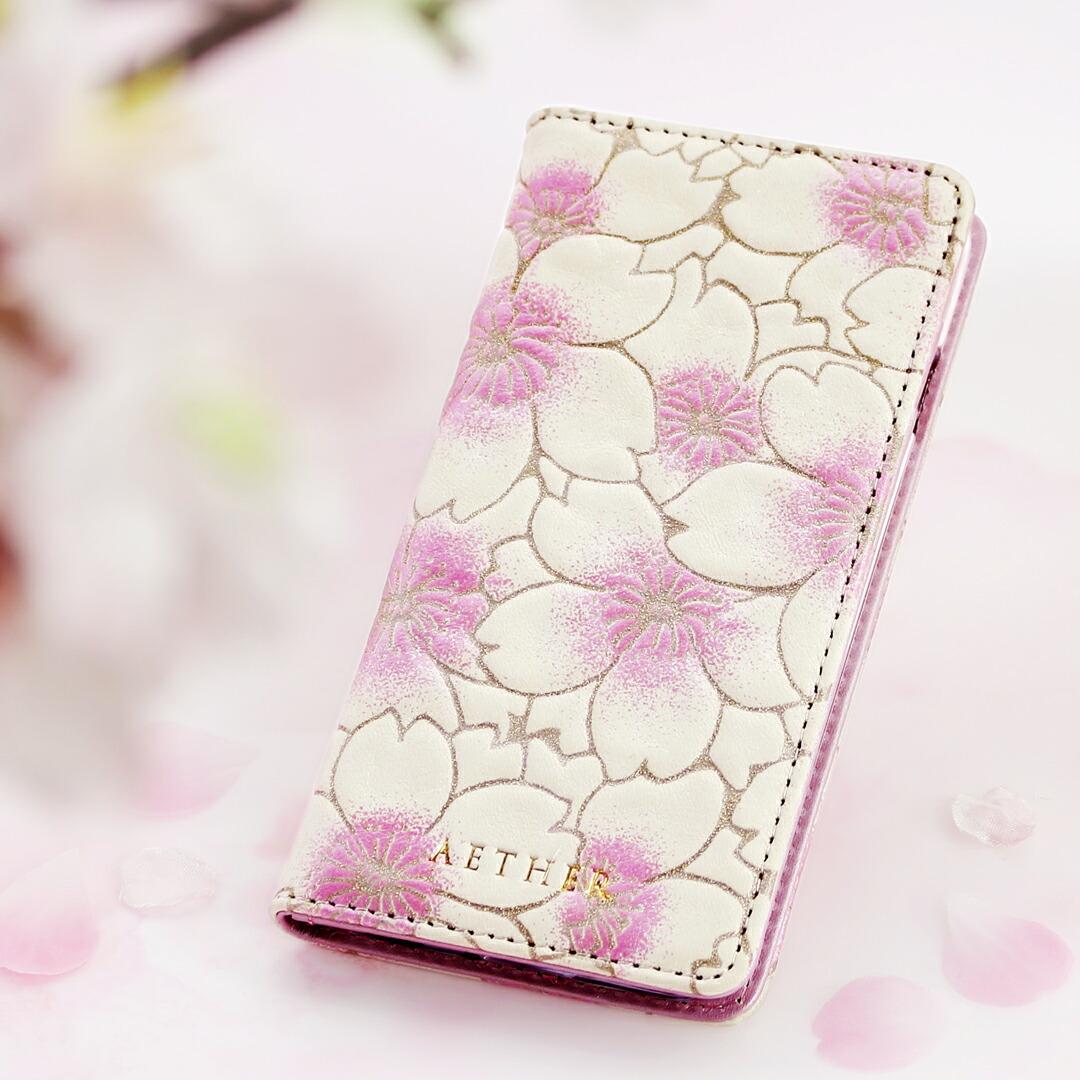 ヌバックレザーiPhone8/7ケース(6s/6対応) サクラ・シェリー