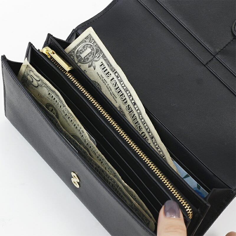 1e314c2a8261 モノクロ花柄のレディース二つ折り長財布|かわいいかぶせ長財布ならエーテル