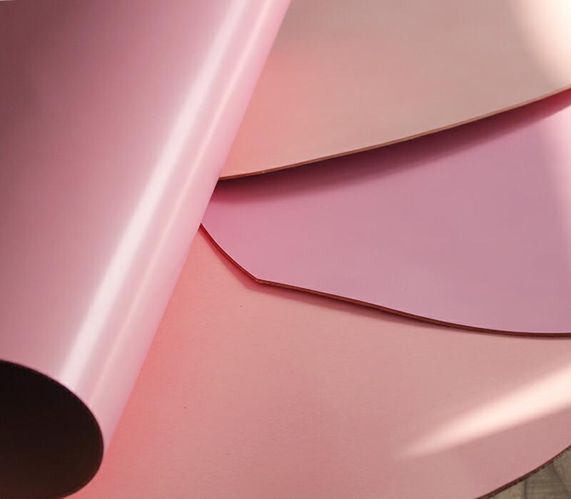 エーテル 桜色のコードバンレザー