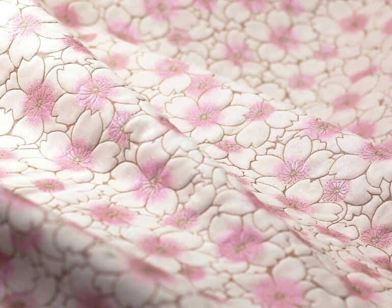 桜柄の牛革ヌバックレザー