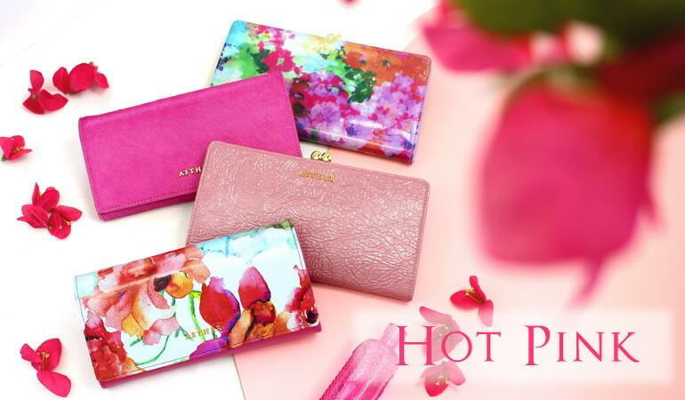 エーテルで人気のホットピンクの財布・キーケース