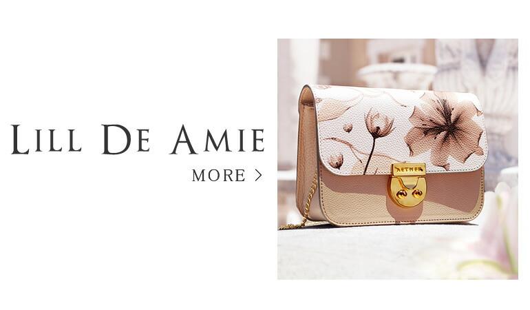 ユリ柄のミニバッグ「リル・ド・アミ」