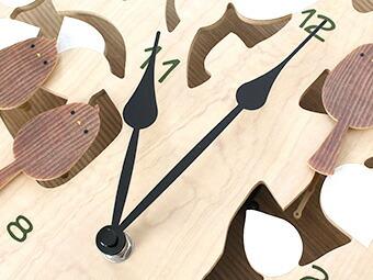 木に止まった鳥が動く北欧テイスト掛け時計