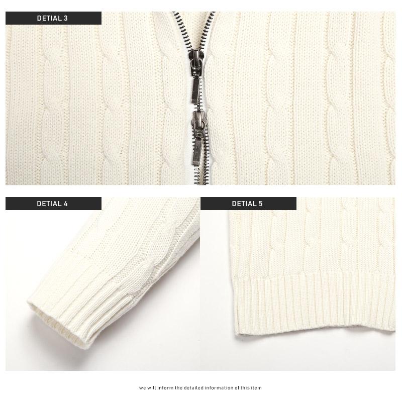 ニット ブルゾン メンズ ジャケット BITTER ビター系 秋 冬 スタンドジャケット ケーブルニット カーデ 羽織り ジップ スタンドジップ ライトアウター サーフ 無地 ファッション 12