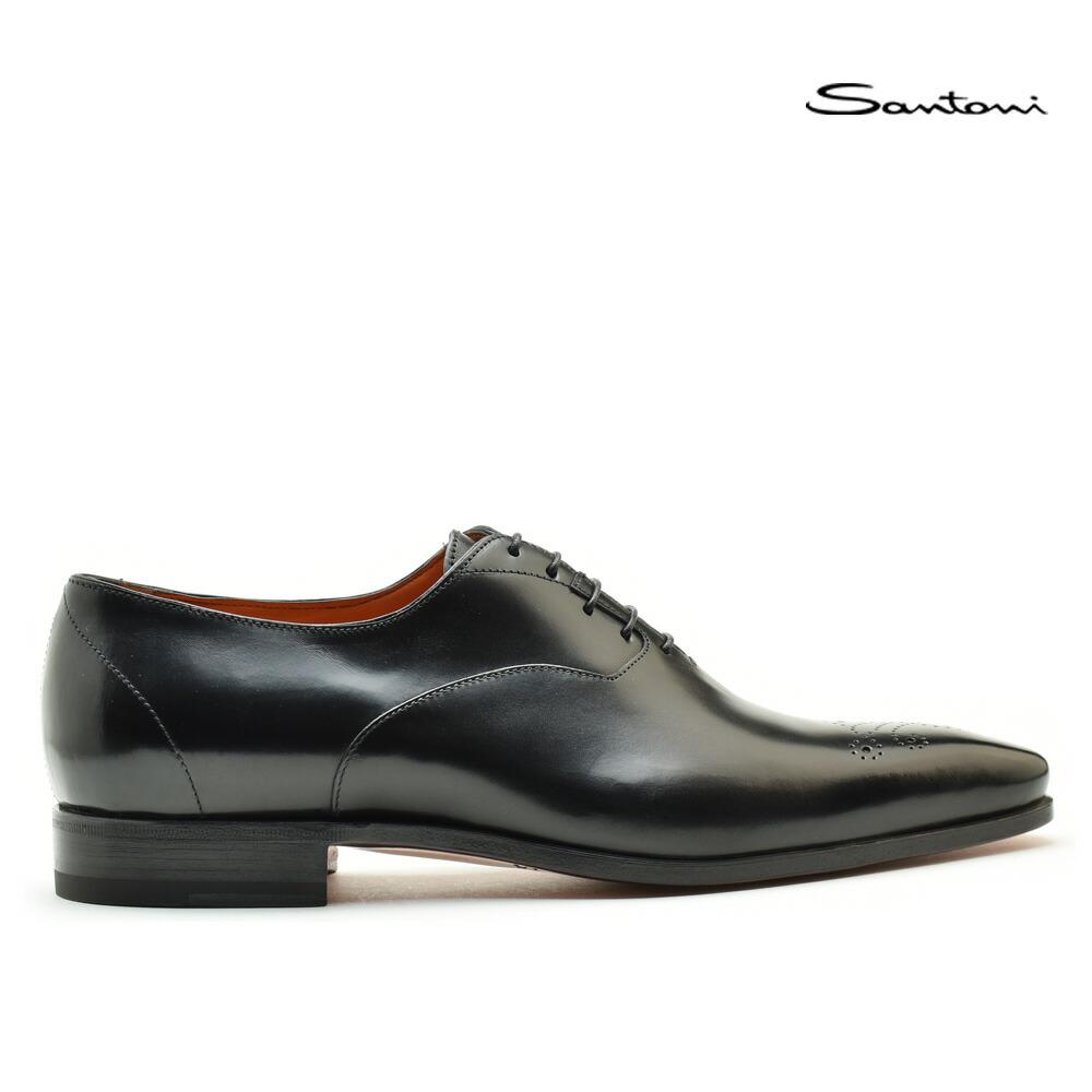 サントーニ Santoni MCBO 10039 BA7IOBSN01 革靴 メンズ ブラック BLACK レースアップ ドレスシューズ