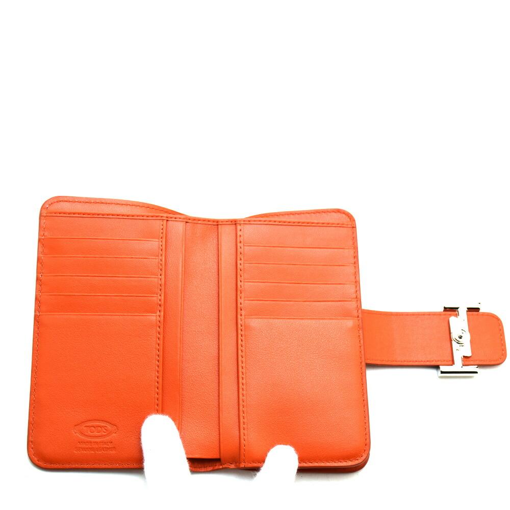 2fed72ccd8aa トッズ TODS XAWDSSBL300RLX/G806 二つ折り財布 コンパクトウォレット オレンジ レディース【送料無料】激安市場