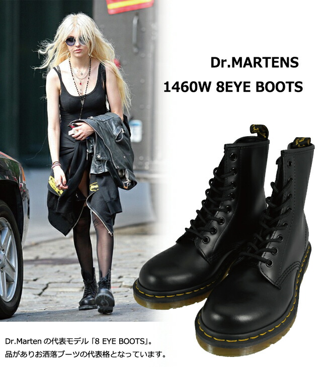 1376a1d390 Dr. Martens Dr.MARTENS 1460 W 8EYE BOOTS r 11821006 r 11821100 r 11821600  BLACK and WHITE, CHERRYRED 8 eye boot women's size