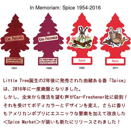 芳香剤 カーアクセサリー リトルツリー エアフレッシュナー 「スパイスマーケット」5枚セット Little Trees