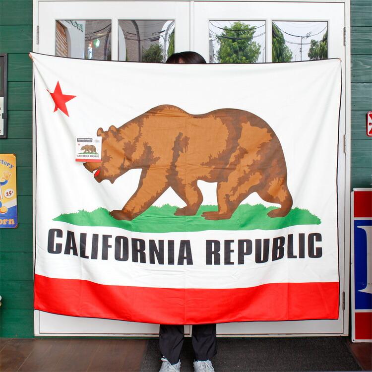 サマーブランケット CALIFORNIA REPUBLIC 150cm×125cm 夏用 タオルケット ポリエステル カリフォルニアリパブリック アメリカン雑貨