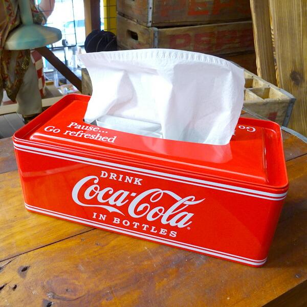 COCA-COLA BRAND コカコーラブランド Tin Box Tissue Case ティンボックスティシュケース PJ-TC01