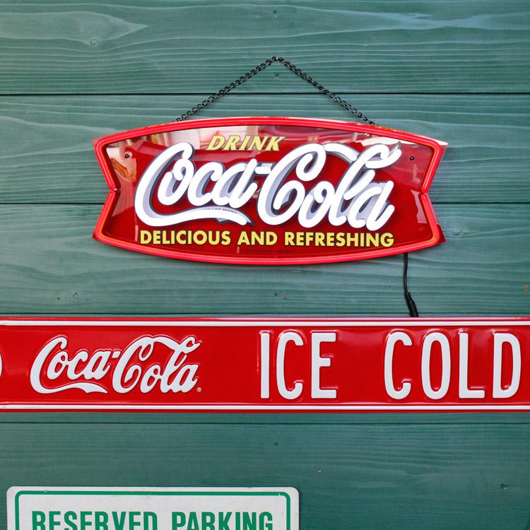 コカコーラ ネオン LED サイン FISH PJ-NEO01 H22×W55cm LEDネオン インテリア 照明 ディスプレー 店舗装飾 アメリカ雑貨 アメリカン雑貨