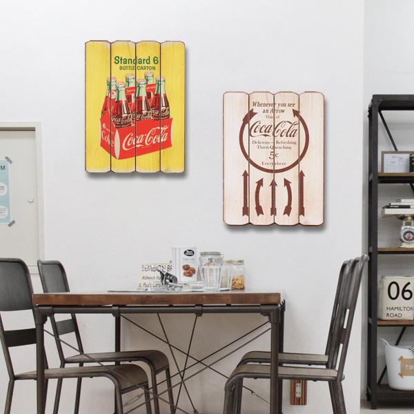 コカコーラ ウッドサイン/COCA-COLA BRAND/木製看板/