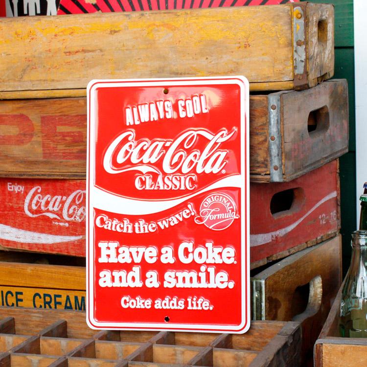 ストアサインプレート コカ・コーラ Coca-Cola Have a Coke CC-SP3 看板  アメリカ雑貨 アメリカン雑貨