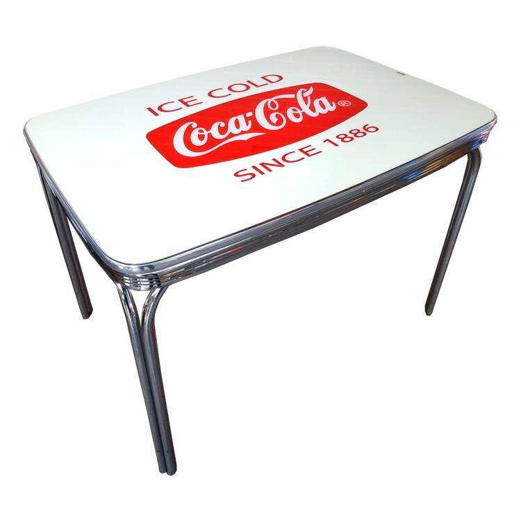 COCA-COLA BRAND コカコーラブランド ダイナーテーブル 「Coke Dinner Table with Glass Top」 PJ-600DL