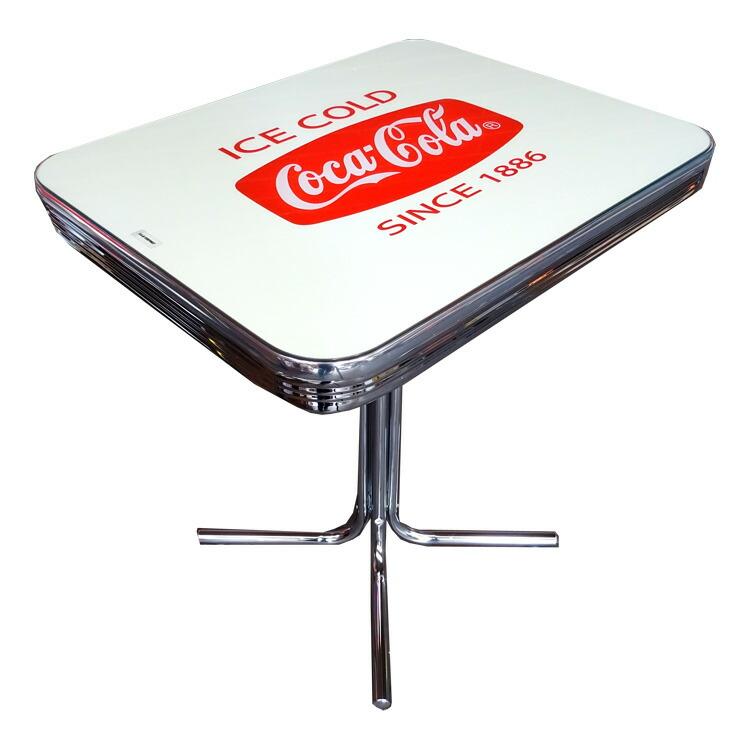 COCA-COLA BRAND コカコーラブランド テーブル 「Coke S-Table with Glass Top」 PJ-500DS