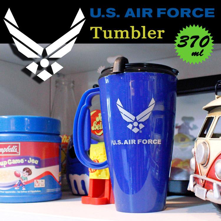 トラベルマグ エアフォース US AIR FORCE プラスチック ふた付き タンブラー おしゃれ 食器 アメリカ雑貨 アメリカン雑貨