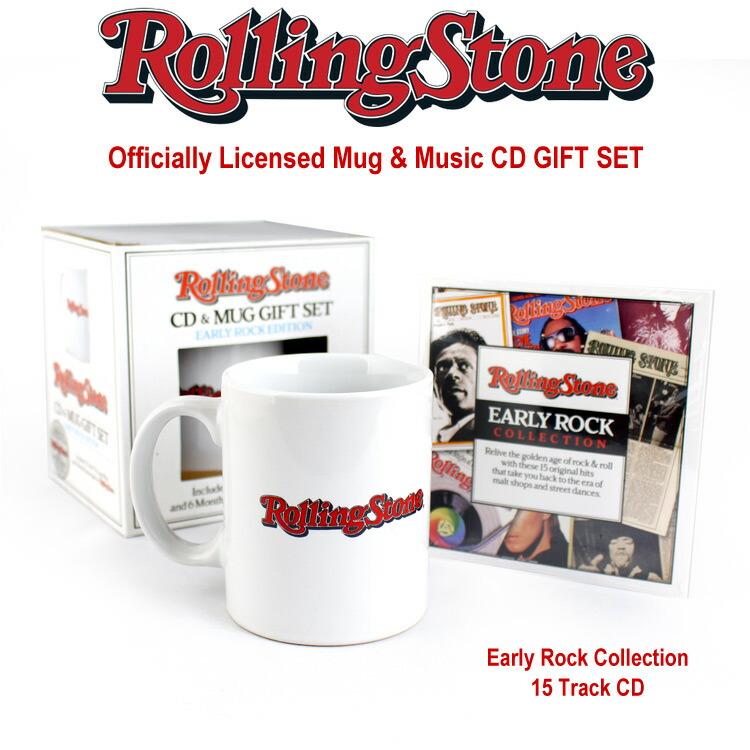 ローリングストーン誌 オフィシャルマグ&CD ギフトセット Early Rock Edition 音楽雑誌 Rolling Stone アメリカ雑貨 アメリカン雑貨