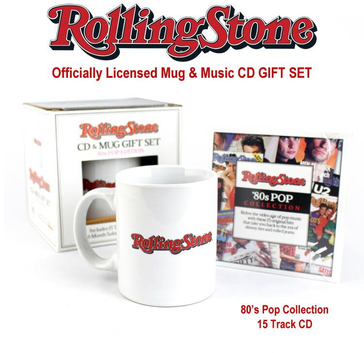 ローリングストーン誌 オフィシャルマグ&CD ギフトセット 80's Pop Edition 音楽雑誌 Rolling Stone アメリカ雑貨 アメリカン雑貨