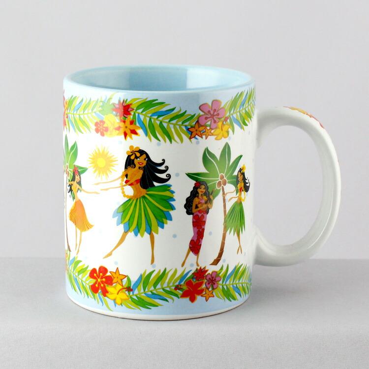 マグカップ おしゃれ ハワイ土産 アイランドヘリテージ フラハニー(ブルー) Island Heritage コーヒーカップ ハワイアン雑貨 アメリカ雑貨 アメリカン雑貨