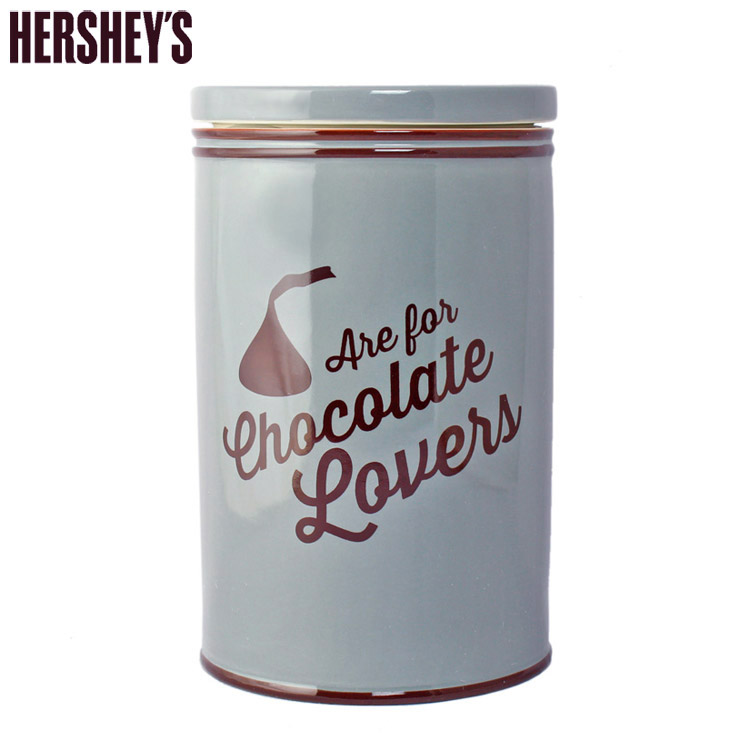 ハーシーズ キャニスター キスチョコラバーズ 高さ23×直径14.5cm Hershey's 保存容器 陶器製 キッチン雑貨 HER11020 アメリカ雑貨 アメリカン雑貨