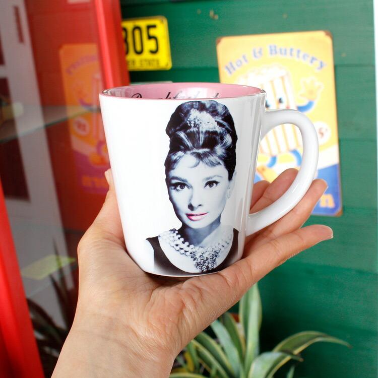 マグカップ オードリー・ヘプバーン 12oz 355ml Elegance Is Beauty (U5095) コーヒーカップ アメリカ雑貨 アメリカン雑貨
