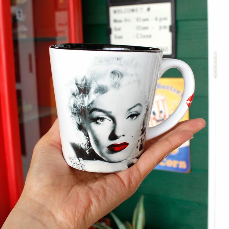 マグカップ マリリン・モンロー 12oz 355ml Red Lips White (Y5096) コーヒー ティーカップ アメリカ雑貨 アメリカン雑貨