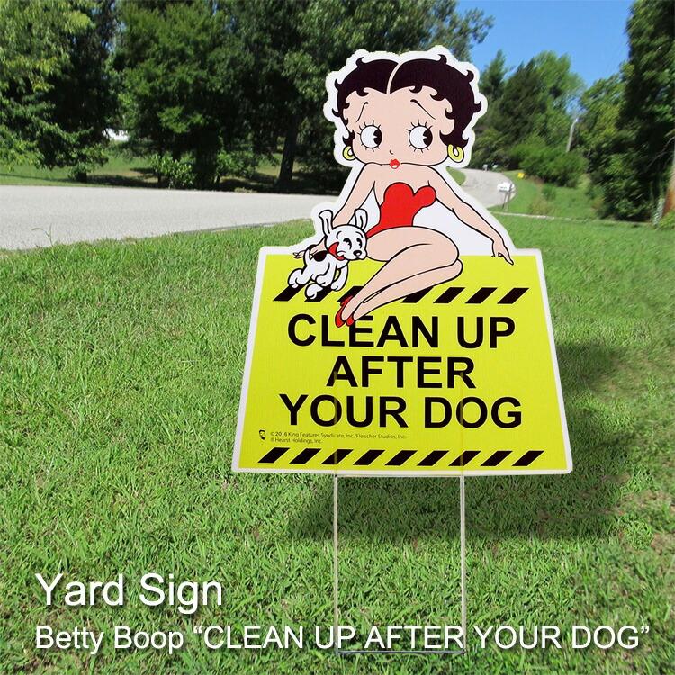 ヤードサイン・メッセージボード BETYY - DOG ベティちゃん Betty Boop 芝生の立て看板 アメリカ雑貨 アメリカン雑貨