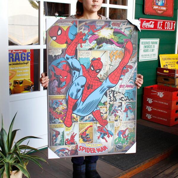 キャンバスアート スパイダーマン SPIDER-MAN #212465 H91.5×W60.5cm アメコミ キャラクター キッズルーム ウォールデコ ポスター アメリカ雑貨 アメリカン雑貨