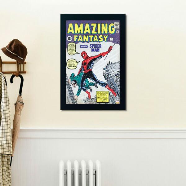 フレームアート アメージング スパイダーマン No.212389 H48×W32.6cm 額縁付きアート 映画グッズ マーヴェル 壁面インテリア ポスター アメリカ雑貨
