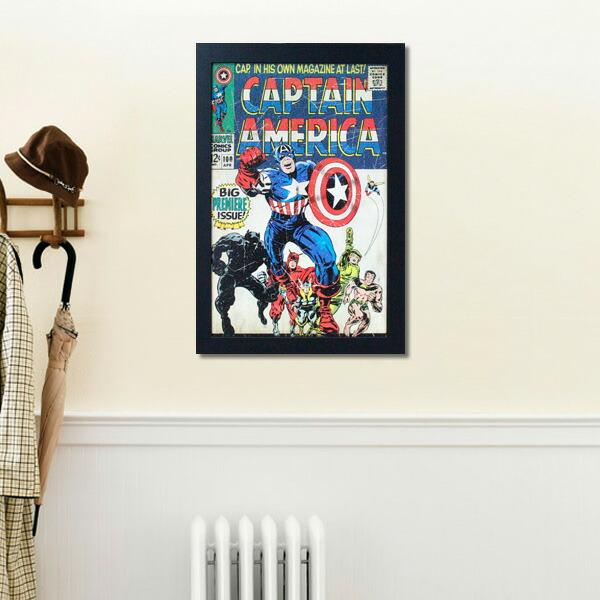 フレームアート キャプテンアメリカ No.212431 H48×W32.6cm 額縁付きアート 映画グッズ マーヴェル 壁面インテリア ポスター アメリカ雑貨