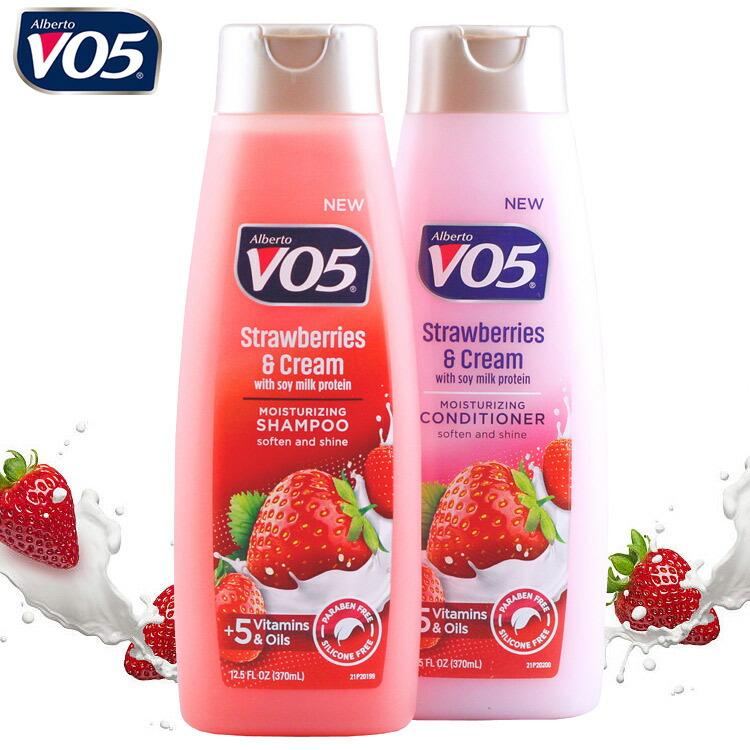 VO5 シャンプー&コンディショナー 「ストロベリー&クリーム」 370ml (2本セット販売) アメリカ製 アメリカン雑貨