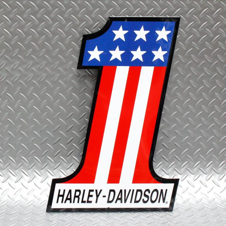 エンボスメタルサイン ハーレーダビッドソン h d number 1 harley