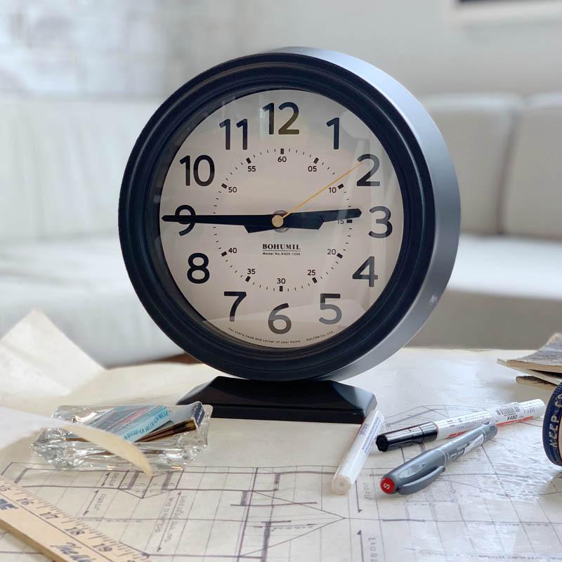 ダルトン 置き時計 Bohumil Clock ブラック K925-1256BK DULTON おしゃれ アナログ アメリカ雑貨 アメリカン雑貨