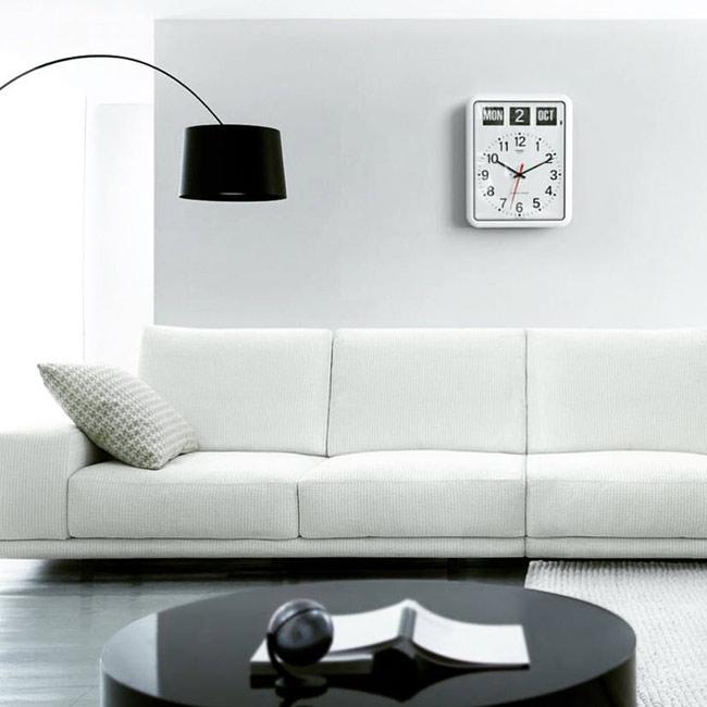 トゥエンコ ラジオコントロールカレンダークロック #RC-12A(ホワイト) 】TWEMCO】壁掛け時計・ウォールクロック】電波時計】アメリカン雑貨】