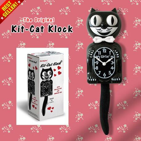 The Original Kit-Cat Clock オリジナル キットキャットクロック (ブラック)
