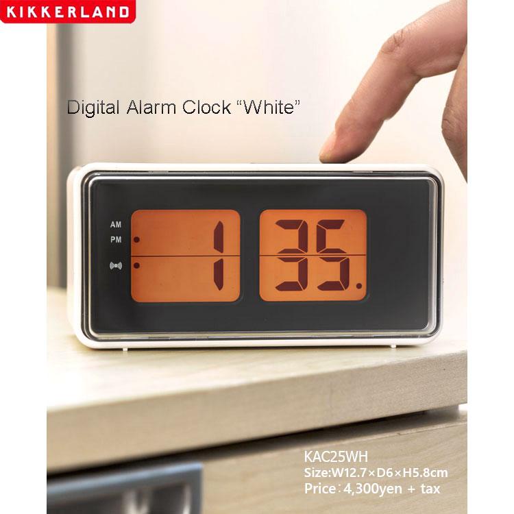 目覚まし時計 おしゃれ キッカーランド デジタル アラームクロック KAC25WH ホワイト KIKKERLAND レトロ 置き時計 インテリア アメリカ雑貨 アメリカン雑貨