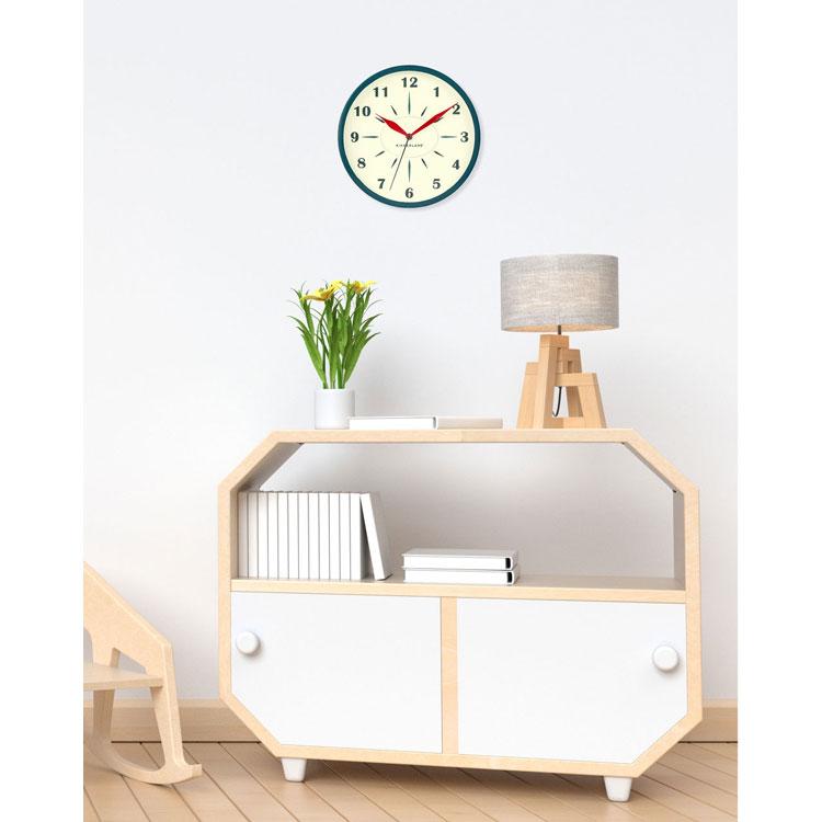 壁掛け時計 キッカーランド ブリタニック クロック KCL62 KIKKERLAND ウォールクロック アメリカ雑貨 アメリカン雑貨