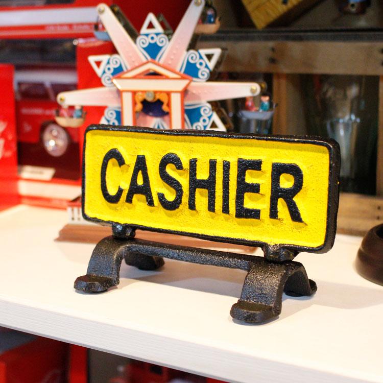 店舗ディスプレー ダルトン リバーシブル サインスタンド CASHIER キャッシャー R655-744 DULTON 店舗用品 アメリカ雑貨 アメリカン雑貨