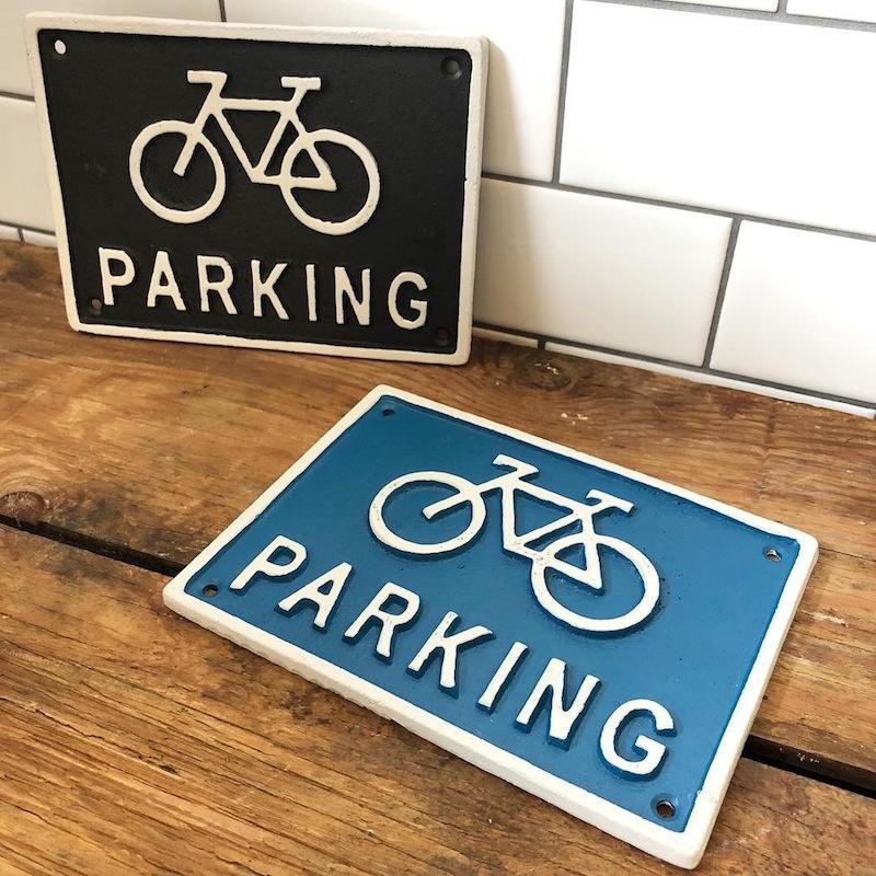 店舗ディスプレー ダルトン アイアンサイン Bicycle Parking 駐輪場 ブルー R855-994-BL DULTON 店舗用品 アメリカ雑貨 アメリカン雑貨