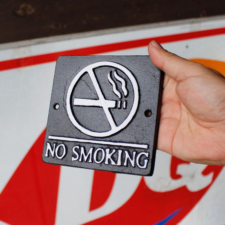 店舗ディスプレー ダルトン スクエアサインサイン NO SMOKING 禁煙 ブラックベース S355-117ABK DULTON 店舗用品 アメリカ雑貨 アメリカン雑貨