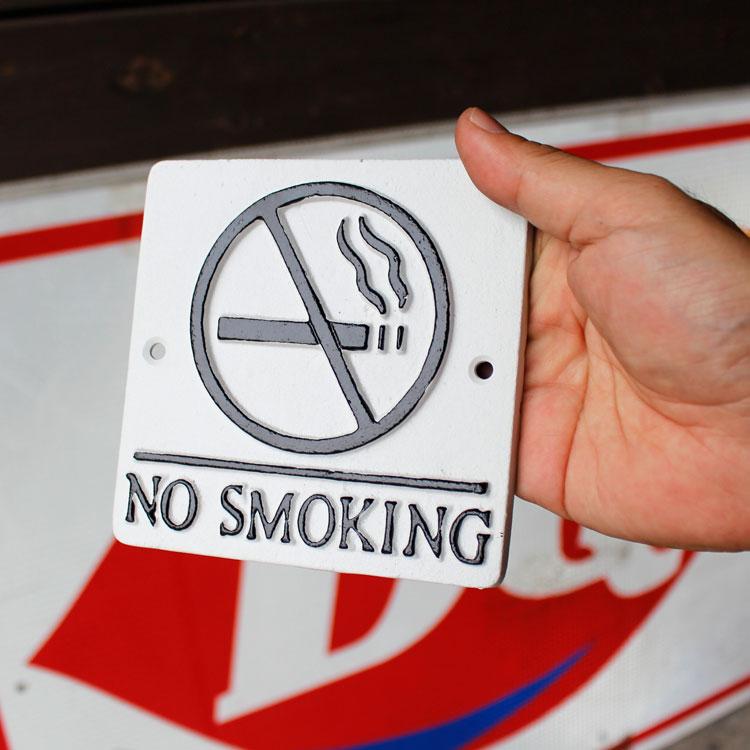 店舗ディスプレー ダルトン スクエアサインサイン NO SMOKING 禁煙 アイボリーベース S355-117CIV DULTON 店舗用品 アメリカ雑貨 アメリカン雑貨