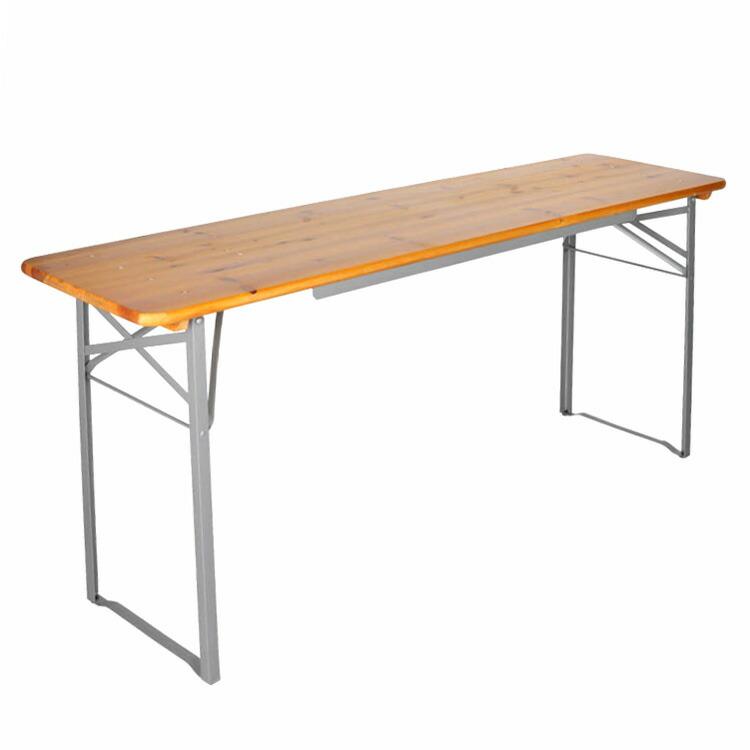 ダルトン ビア テーブル 130cm ウッドテーブル×シルバースタンド DULTON H745-942-13SV アウトドア BBQ ホームパーティ アメリカ雑貨