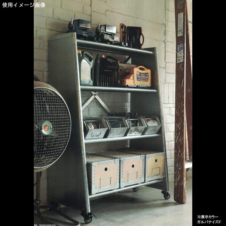 ダルトン 4タイヤ テーパード メタルシェルフ Model 116-323 カラー:Raw DULTON 収納棚 メタルラック ガレージ お洒落 アメリカ雑貨