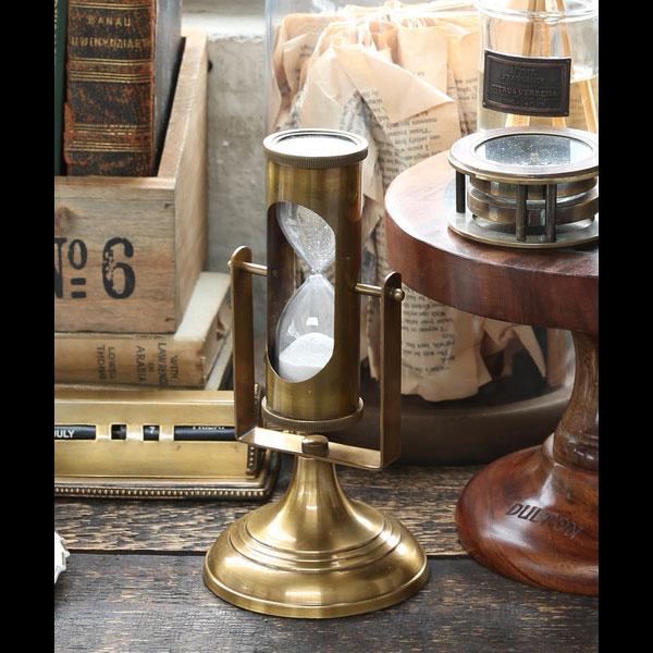 砂時計 3分 おしゃれ ダルトン Dorado スタンド アワーグラス G559-561 DULTON 真鍮 インテリア小物 置物 アメリカ雑貨 アメリカン雑貨