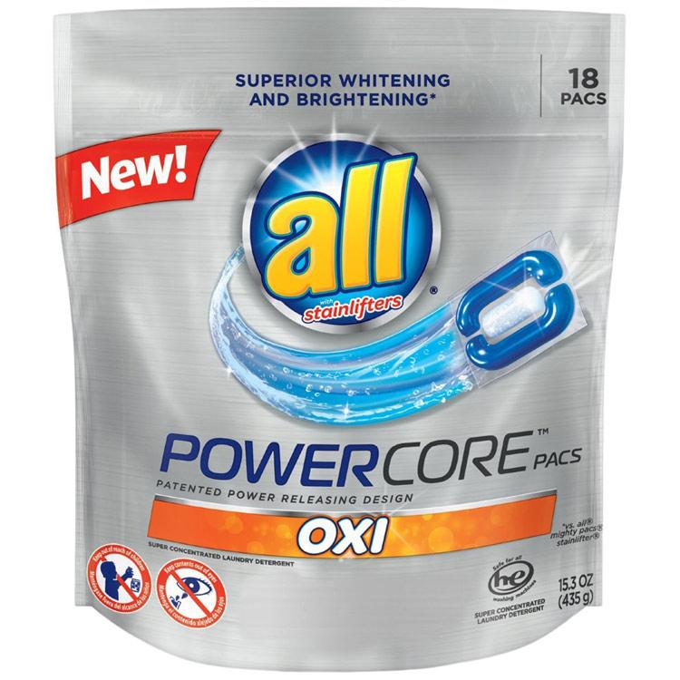 洗濯洗剤 ジェルパック all オール パワーコアパック18個入り 435g 15.3oz ジェルボール SUN アメリカ製 アメリカ雑貨 アメリカン雑貨