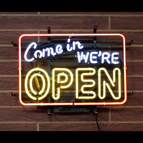 アメリカンネオンサイン 「COME IN WE'RE OPEN」店舗様にお勧めのオープンサイン!