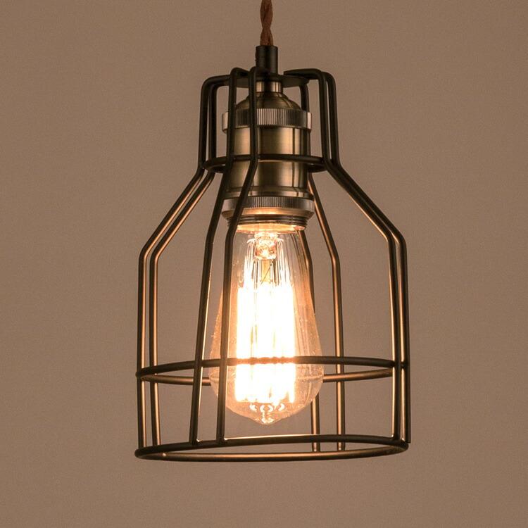 照明器具 ペンダントライト 吊り下げ おしゃれ エジソン電球付きランプ ガレージランプ レトロ エジソンバルブ 60W シェードランプ アメリカ雑貨 アメリカン雑貨